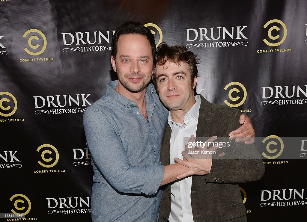 <a gi-track='captionPersonalityLinkClicked' href=/galleries/search?phrase=Nick+Kroll&family=editorial&specificpeople=4432339 ng-click='$event.stopPropagation()'>Nick Kroll</a> and Derek Waters attend Comedy Central's 'Drunk History' Premiere Party at The Wilshire Ebell Theatre on July 8, 2013 in Los Angeles, California.