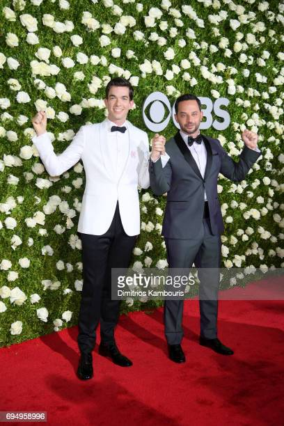 Nick Kroll and John Mulaney attend the 2017 Tony Awards at Radio City Music Hall on June 11 2017 in New York City