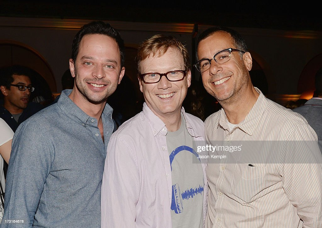 <a gi-track='captionPersonalityLinkClicked' href=/galleries/search?phrase=Nick+Kroll&family=editorial&specificpeople=4432339 ng-click='$event.stopPropagation()'>Nick Kroll</a>, Andrew Daly and Kent Alterman attend Comedy Central's 'Drunk History' Premiere Party at The Wilshire Ebell Theatre on July 8, 2013 in Los Angeles, California.
