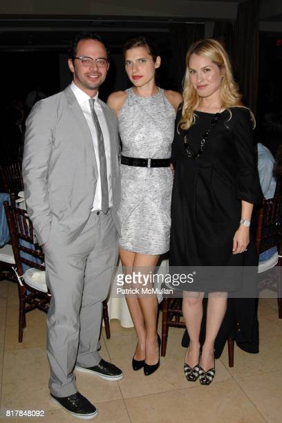 Nick Kroll Lake Bell and Leslie Grossman attend Malcolm Gladwell And Lisa Eric Eisner Dinner in Celebration and Support of YES at The Sunset Tower on...