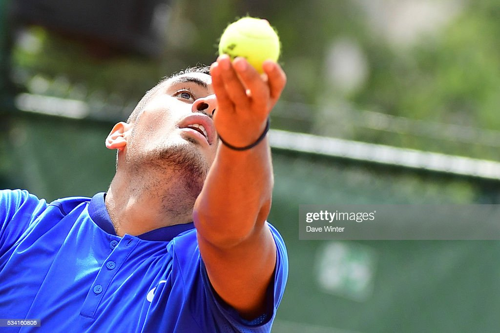 Nick Kyrgios during the Men's Singles second round on day four of the French Open 2016 at Roland Garros on May 25, 2016 in Paris, France.