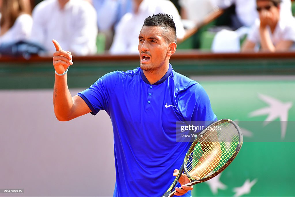 Nick Kyrgios during the Men's Singles third round on day six of the French Open 2016 at Roland Garros on May 27, 2016 in Paris, France.