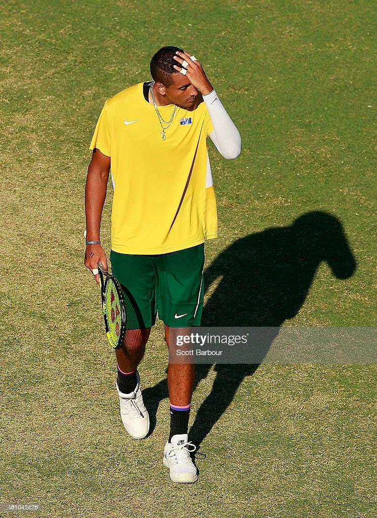 Australia v Kazakhstan - Davis Cup: Day 1