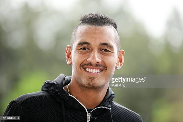 Nick Kyrgios speaks during an interview during the day one of the 2015 Sydney International at Sydney Olympic Park Tennis Centre on January 11 2015...