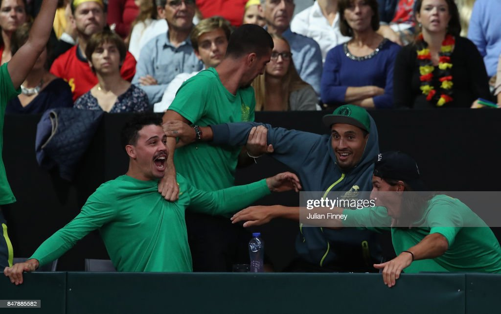 Belgium v Australia - Davis Cup World Group Semi Final: Day 2 : News Photo
