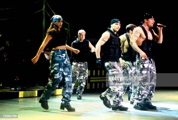 Nick Lachey and 98 Degrees perform at Shoreline Amphitheatre on July 31 1997 in Mountain View California
