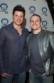 Nick Lachey and Drew Lachey during Napster To Go Cafe Comes to Los Angeles with Free Digital Music and MP3 Player Giveaways at 'Napster To Go Cafe'...
