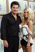 Nick Lachey and Jessica Simpson during 2005 MTV Video Music Awards Arrivals at American Airlines Arena in Miami Florida United States