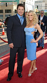 Nick Lachey and Jessica Simpson during 'The Dukes of Hazzard' Los Angeles Premiere Red Carpet at Grauman's Chinese Theatre in Los Angeles California...