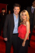 Nick Lachey and Jessica Simpson during TNT Sports Presents the American Express 'Magic' Johnson All Star Celebration at Shrine Auditorium in Los...