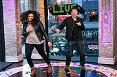Nick Lachey and Michelle Buteau attend the 2015 MTV Break the Record Week DanceAThon in Times Square on March 10 2015 in New York City