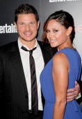 Nick Lachey and Vanessa Lachey attend the Entertainment Weekly SAG Awards preparty at Chateau Marmont on January 17 2014 in Los Angeles California