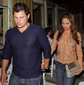 Nick Lachey and Vanessa Minnillo sighting in West Hollywood on June 15 2009 in Los Angeles California