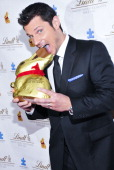 Nick Lachey attends the 5th annual Lindt Gold Bunny Celebrity Auction launch at The Peninsula Hotel on April 4 2014 in New York City