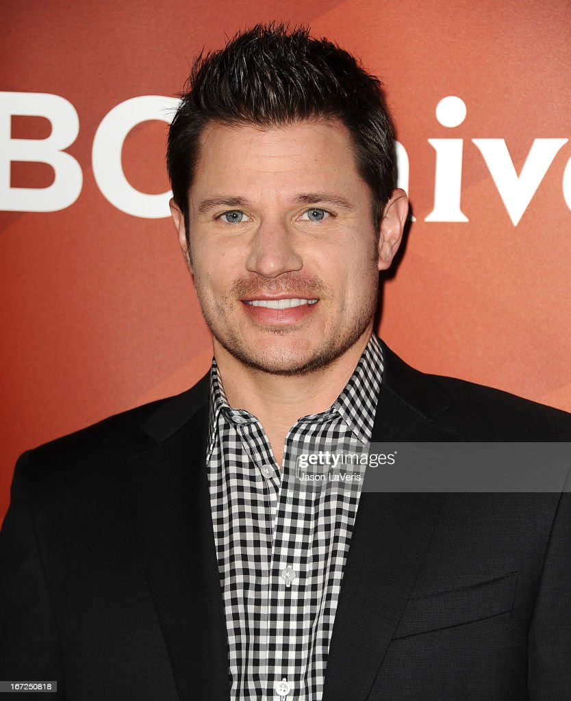 <a gi-track='captionPersonalityLinkClicked' href=/galleries/search?phrase=Nick+Lachey&family=editorial&specificpeople=201832 ng-click='$event.stopPropagation()'>Nick Lachey</a> attends the NBCUniversal summer press day at The Langham Huntington Hotel and Spa on April 22, 2013 in Pasadena, California.