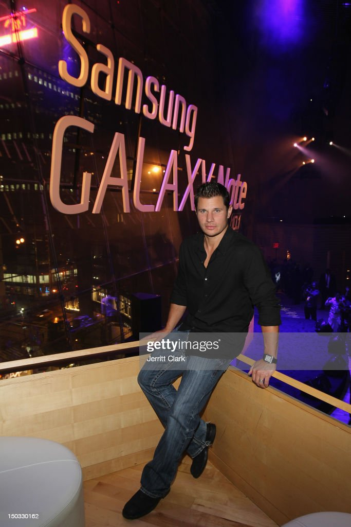 Nick Lachey attends the Samsung Meet The New Way launch party at Frederick P. Rose Hall, Jazz at Lincoln Center on August 15, 2012 in New York City.