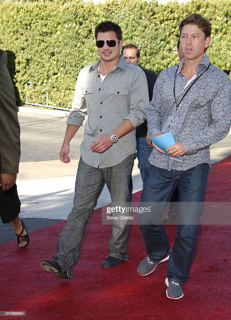 Nick Lachey (left) during 2006 Teen Choice Awards - Arrivals at Gibson Amphitheatre in Universal City, California, United States.