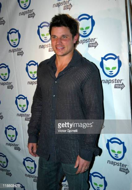 Nick Lachey during Napster To Go Cafe Comes to Los Angeles with Free Digital Music and MP3 Player Giveaways at 'Napster To Go Cafe' AKA Mel's DriveIn...