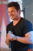 Nick Lachey during Nick Lachey Paris Bennett Ciara and Josh Lucas Visit MTV's 'TRL' May 9 2006 at MTV Studios in New York City New York United States