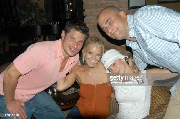 Nick Lachey Jessica Simpson Jaime Pressly and Jay Gehrke Candid Photo by AJ Discala
