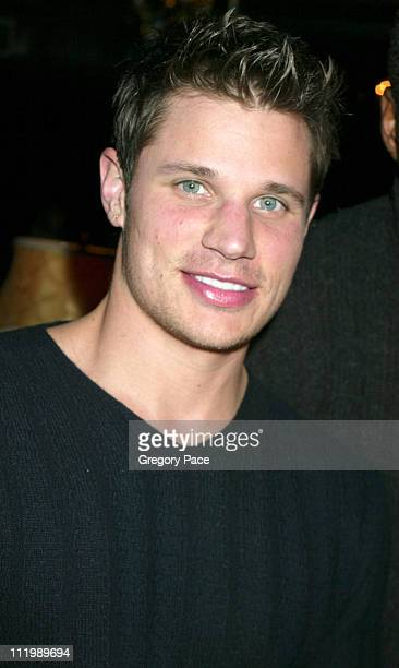 Nick Lachey of 98 Degrees during John Varvatos Fall 2003 Men's Fashion Show at Bryant Park in New York NY United States
