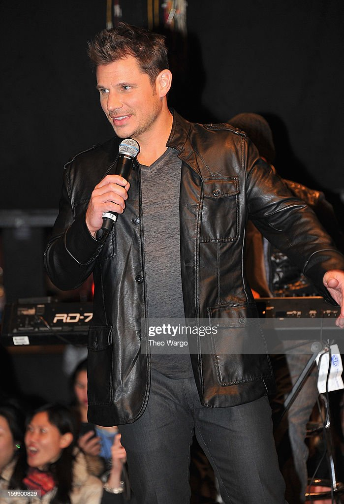 Nick Lachey of 98 Degrees performs at Irving Plaza on January 22, 2013 in New York City.