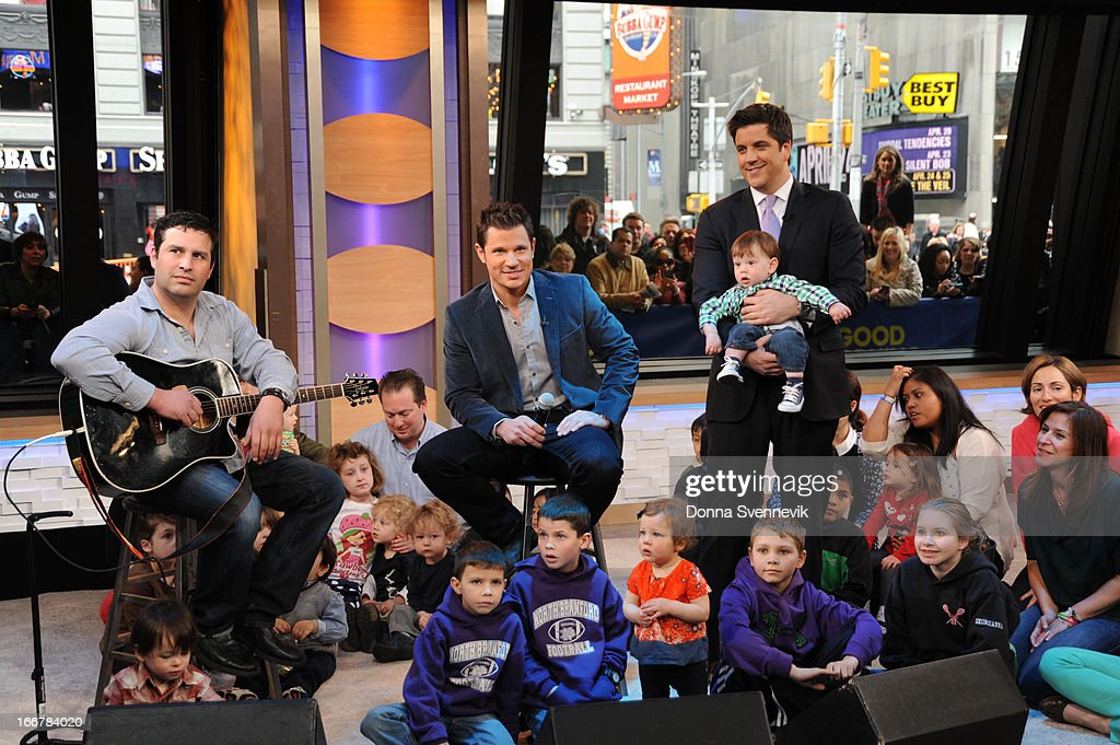AMERICA - Nick Lachey performs live on 'Good Morning America,' 4/15/13, airing on the ABC Television Network. (Photo by Donna Svennevik/ABC via Getty Images) NICK