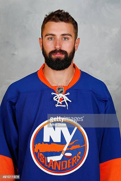 Nick Leddy of the New York Islanders poses for his official headshot for the 20152016 season on September 17 2015 at the Nassau Coliseum in Uniondale...