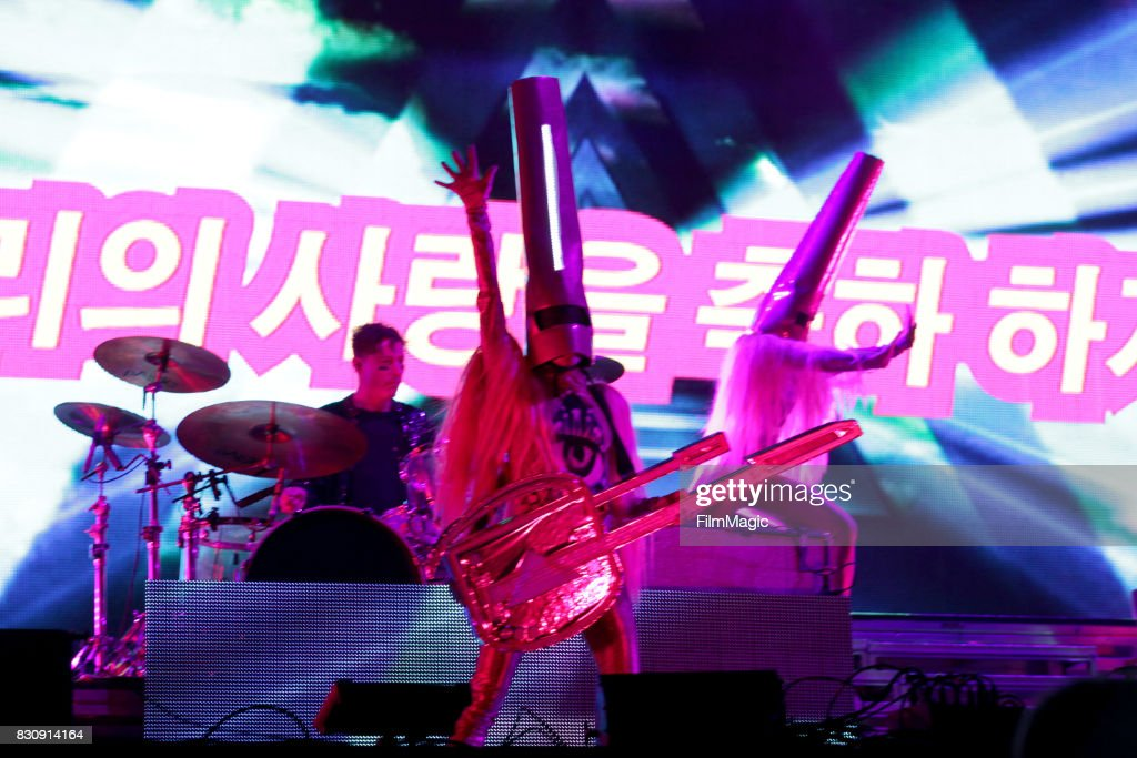Nick Littlemore of Empire of the Sun performs on the Twin Peaks Stage during the 2017 Outside Lands Music And Arts Festival at Golden Gate Park on August 12, 2017 in San Francisco, California.