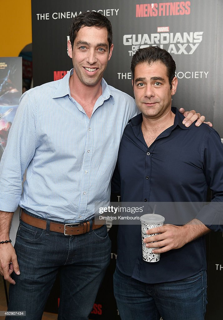 <a gi-track='captionPersonalityLinkClicked' href=/galleries/search?phrase=Nick+Loeb&family=editorial&specificpeople=7091574 ng-click='$event.stopPropagation()'>Nick Loeb</a> and Guest attend The Cinema Society with Men's Fitness and FIJI Water special screening of Marvel's 'Guardians of the Galaxy' at Crosby Street Hotel on July 29, 2014 in New York City.