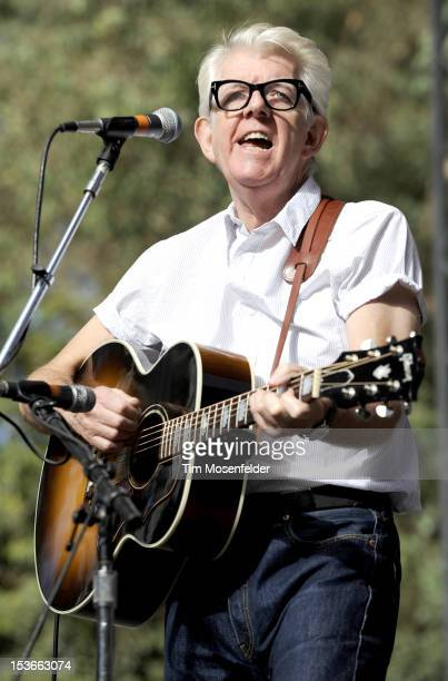 Nick Lowe performs as part of the Hardly Strictly Bluegrass Festival in Golden Gate Park on October 7 2012 in San Francisco California
