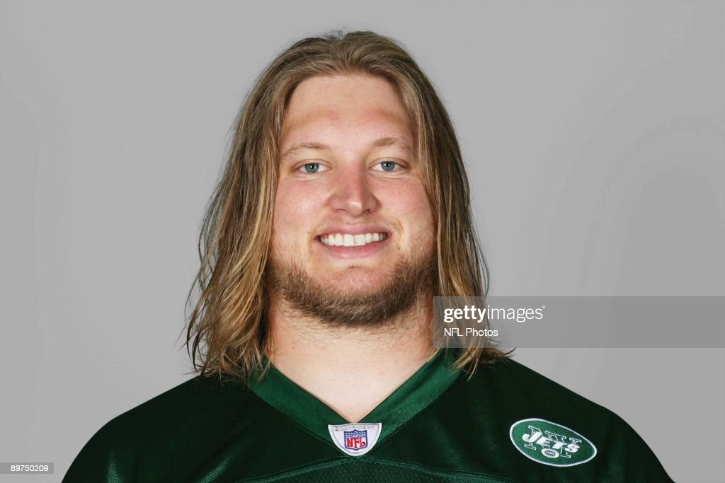Nick Mangold of the New York Jets poses for his 2009 NFL headshot at photo day in East Rutherford, New Jersey.