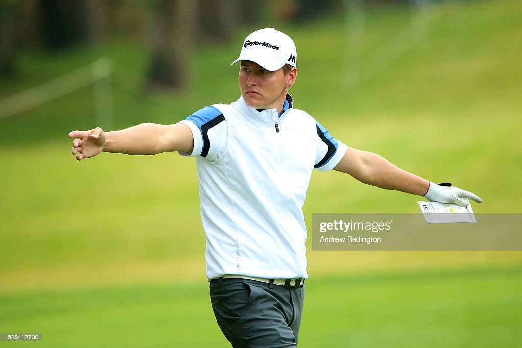 Nick Marsh of England walks along the fairway on the 1st during the first round of the Trophee Hassan II at Royal Golf Dar Es Salam on May 5, 2016 in Rabat, Morocco.