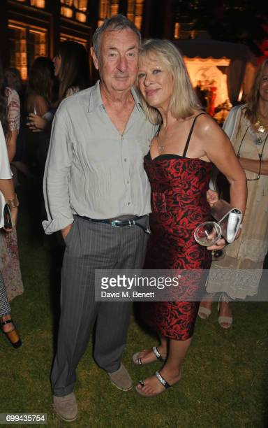 Nick Mason and Annette Mason attend the 2017 annual VA Summer Party in partnership with Harrods at the Victoria and Albert Museum on June 21 2017 in...
