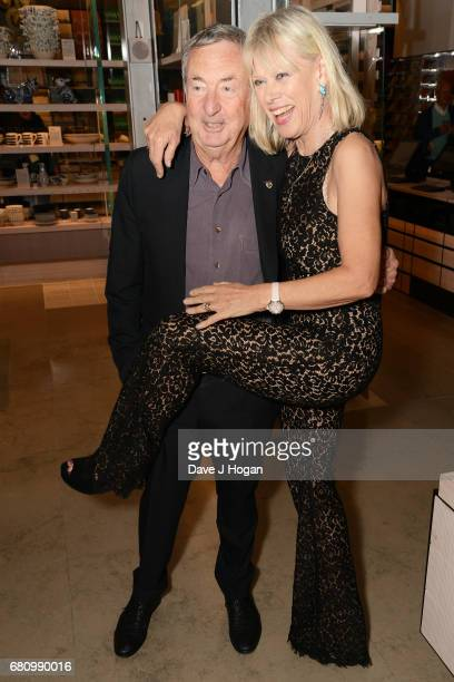 Nick Mason and Annette Mason attend The Pink Floyd Exhibition 'Their Mortal Remains' private view at The VA on May 9 2017 in London United Kingdom