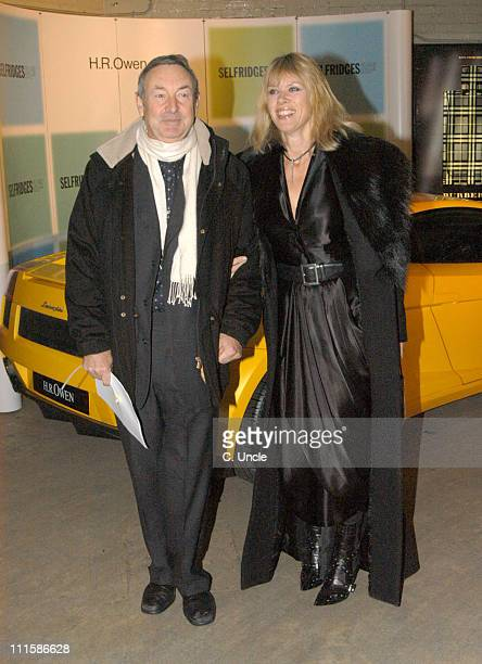 Nick Mason and guest during Couture Car Boot Sale Gala Preview Evening at Selfridges in London Great Britain