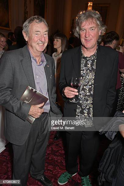 Nick Mason and James May attend as Audi hosts the opening night performance of 'La Fille Mal Gardee' at The Royal Opera House on April 23 2015 in...