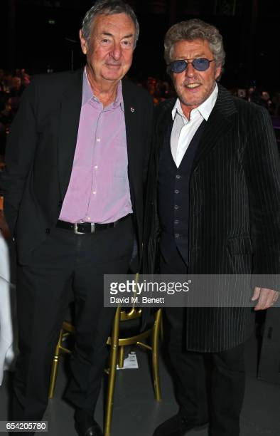 Nick Mason and Roger Daltrey attend the Roundhouse Gala at The Roundhouse on March 16 2017 in London England