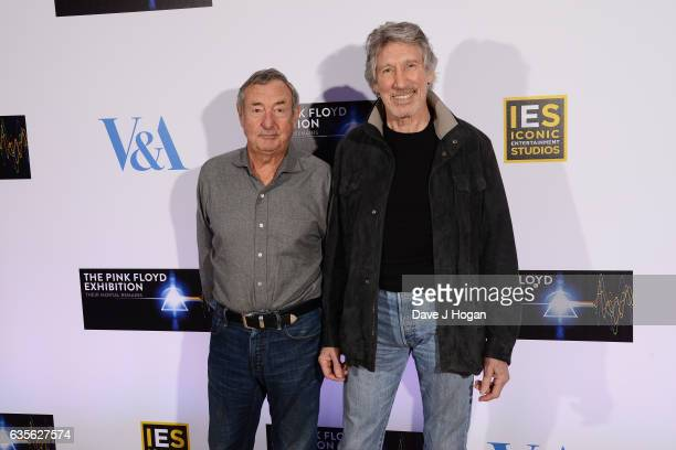 Nick Mason and Roger Waters of Pink Floyd attend the press conference for 'The Pink Floyd Exhibition Their Mortal Remains' Press Conference at The...