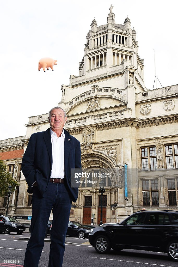 Nick Mason attends the announcement of 'Their Mortal Remains' a Pink Floyd exhibition at The V&A on August 31, 2016 in London, England.