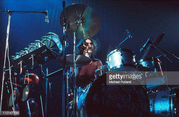 Nick Mason of Pink Floyd performs on stage London 1972