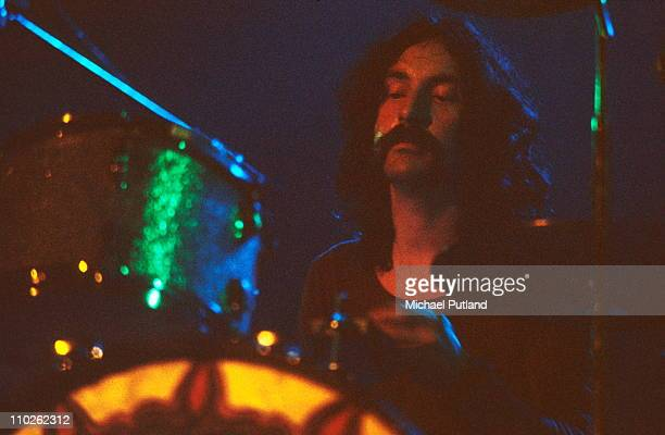 Nick Mason of Pink Floyd performs on stage UK 1972