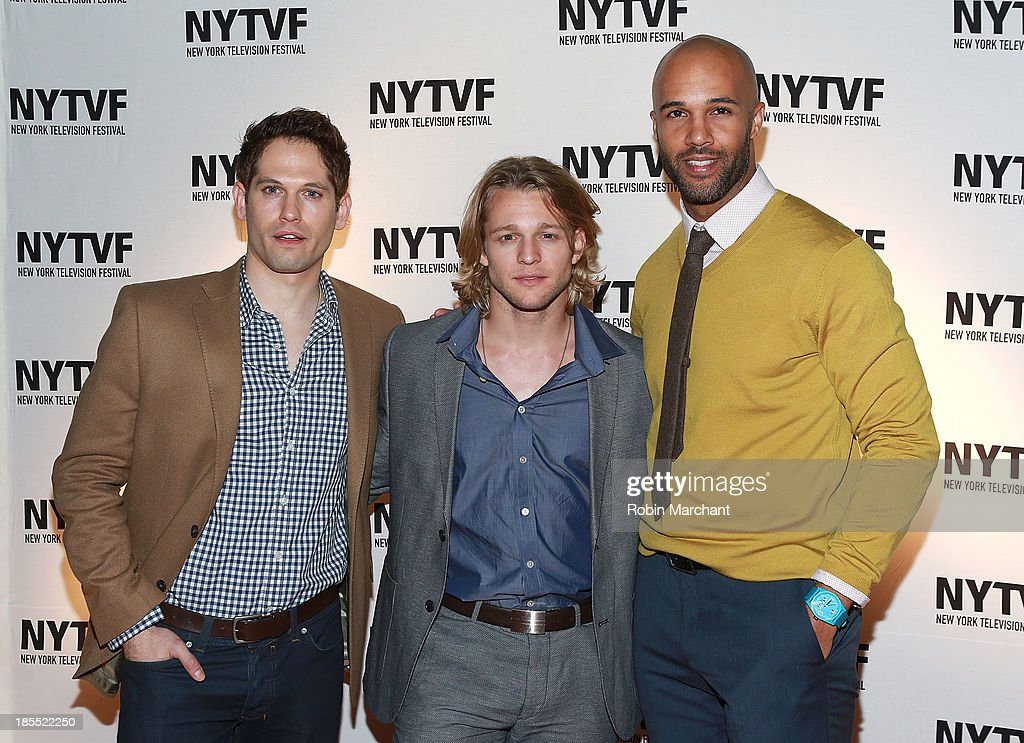 Nick Mathews, Chase Coleman and Mark Tallman attend 'In Between Men' Series Screening - 9th Annual New York Television Festival at Tribeca Cinemas on October 21, 2013 in New York City.