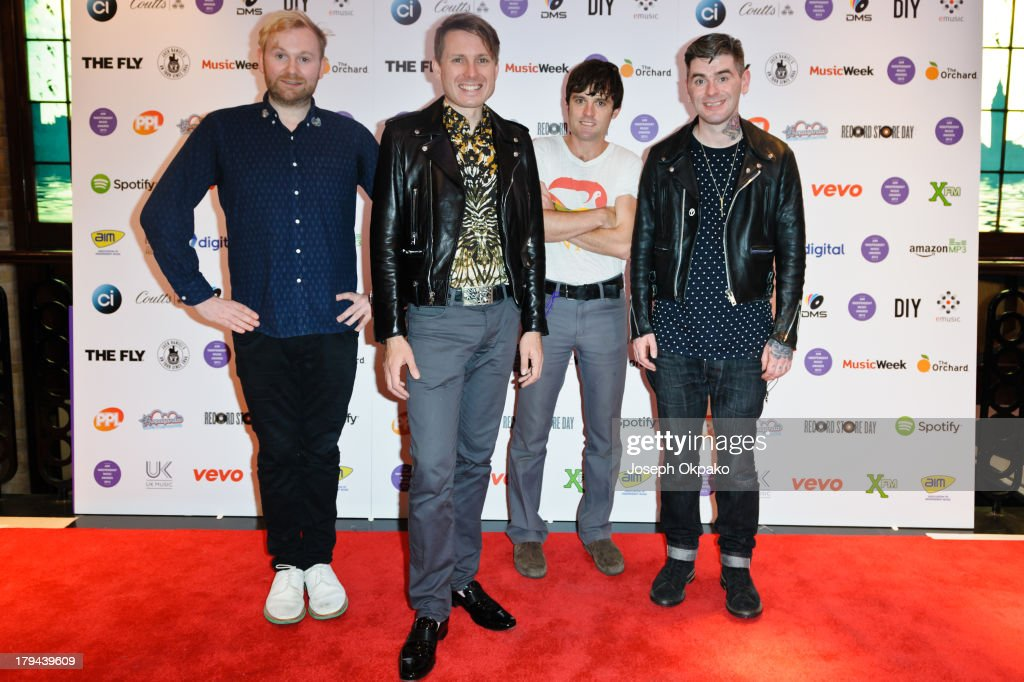 <a gi-track='captionPersonalityLinkClicked' href=/galleries/search?phrase=Nick+McCarthy&family=editorial&specificpeople=220685 ng-click='$event.stopPropagation()'>Nick McCarthy</a> of Franz Ferdinand attends the AIM Independent Music Awards at The Brewery on September 3, 2013 in London, England.