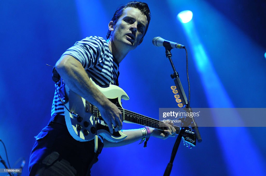 <a gi-track='captionPersonalityLinkClicked' href=/galleries/search?phrase=Nick+McCarthy&family=editorial&specificpeople=220685 ng-click='$event.stopPropagation()'>Nick McCarthy</a> of Franz Ferdinand performs on stage during Day 3 of Bestival 2013 at Robin Hill Country Park on September 7, 2013 in Newport, Isle of Wight.