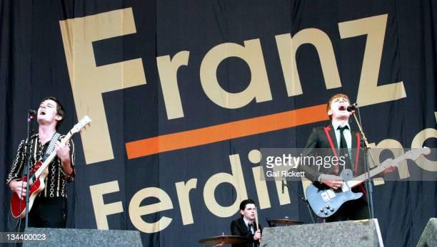 Nick McCarthy Paul Thompsom and Alex Kapranos of Franz Ferdinand