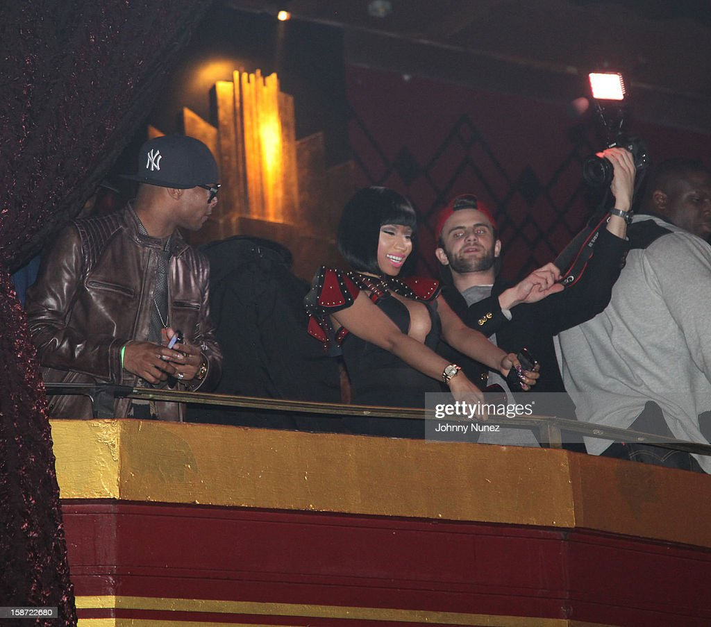 Nick Minaj (C) attends Nicki Minaj's Christmas Extravaganza at Webster Hall on December 25, 2012 in New York City.