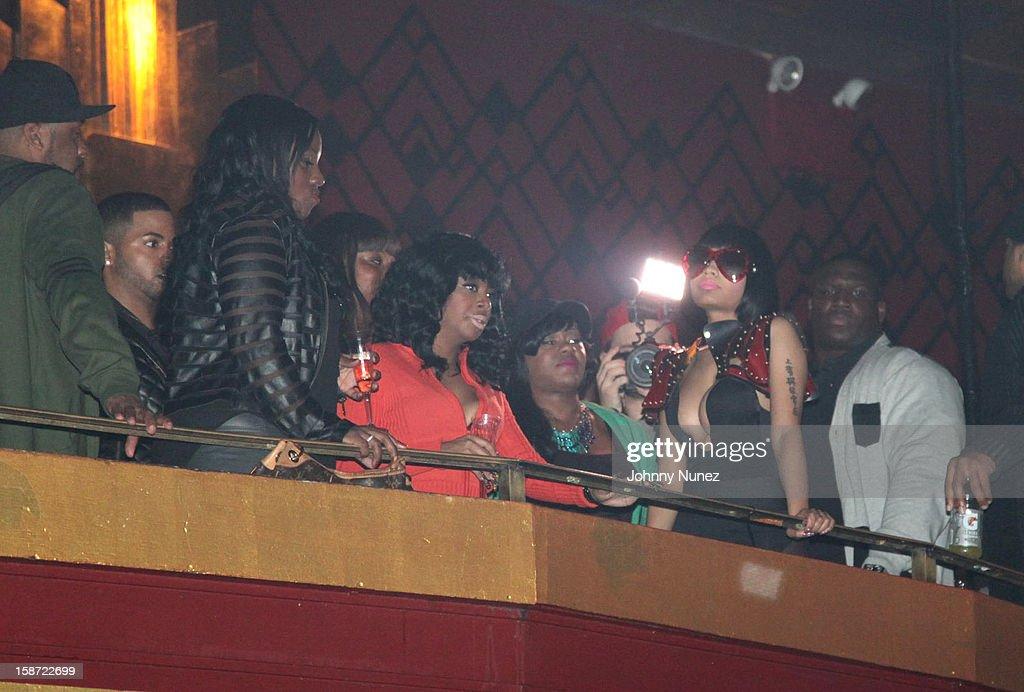 Nick Minaj (C) attends Nicki Minaj's Christmas Extravaganza at Webster Hall on December 25, 2012 in New York City.