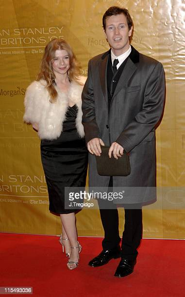 Nick Moran and Guest during Morgan Stanley Great Britons 2005 at Guildhall in London Great Britain