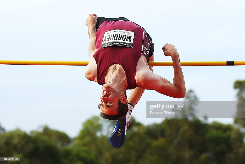 Nick Moroney of NSW competes in the Men's High Jump during the Hunter Track Classic on February 2, 2013 in Newcastle, Australia.